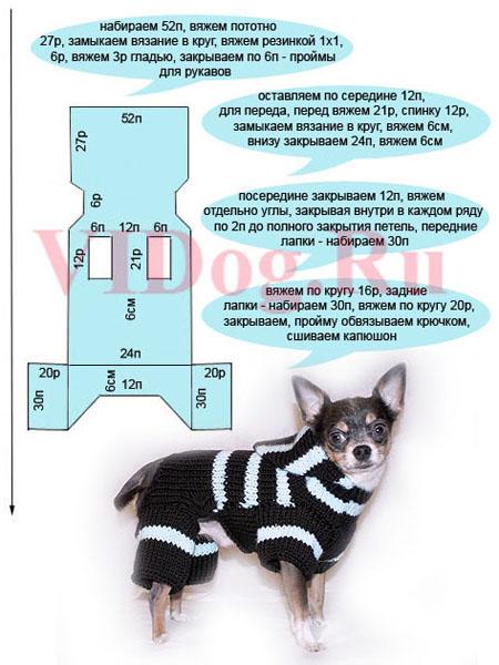 С метками выкройки одежды для собак